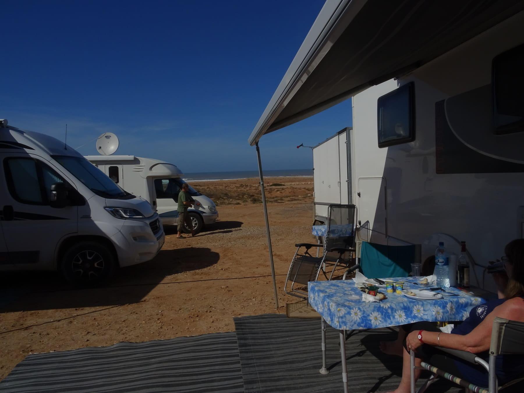 Notre vue du camping car !
