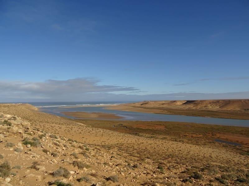 L'embouchure du Draa