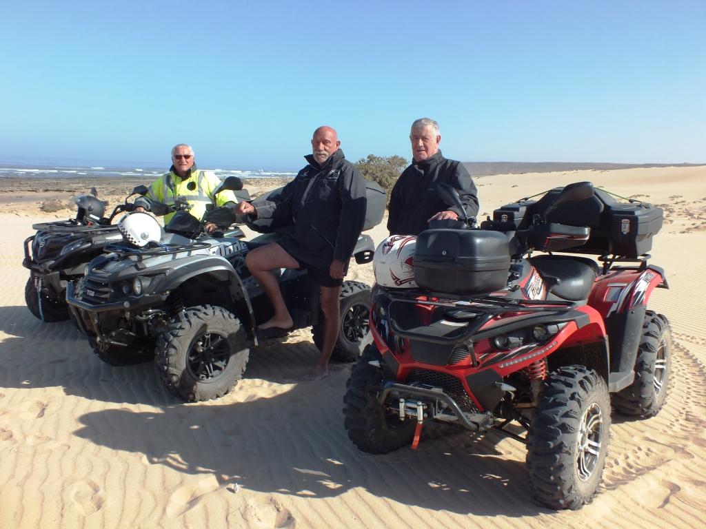 La pause dans les dunes
