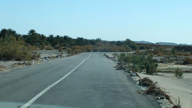 Taversée d'un Oued .