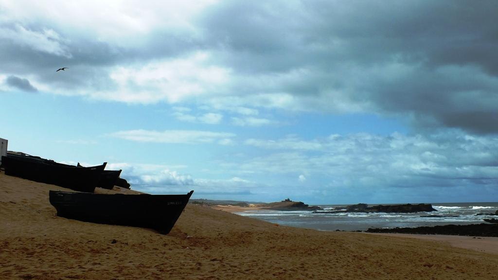 Oualidia port et plage.