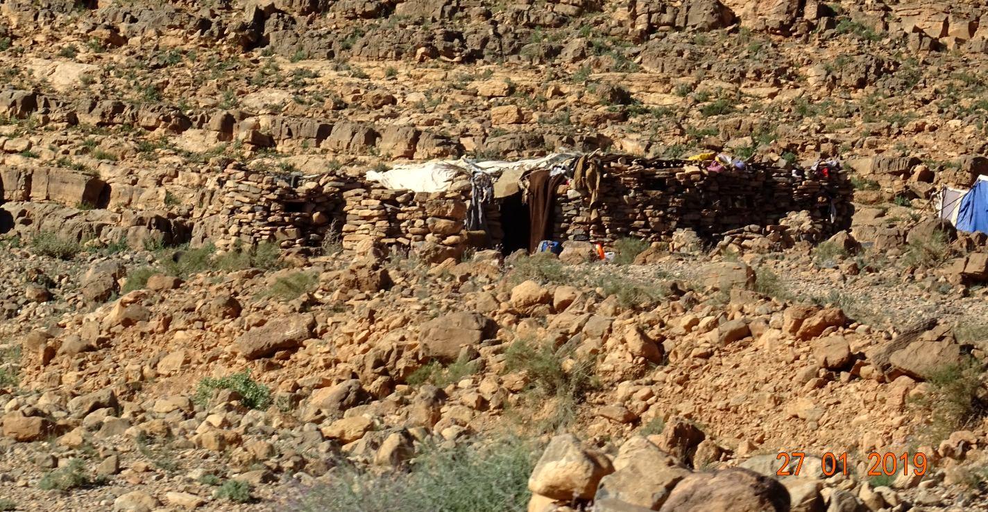 Habitation precaire de nomade
