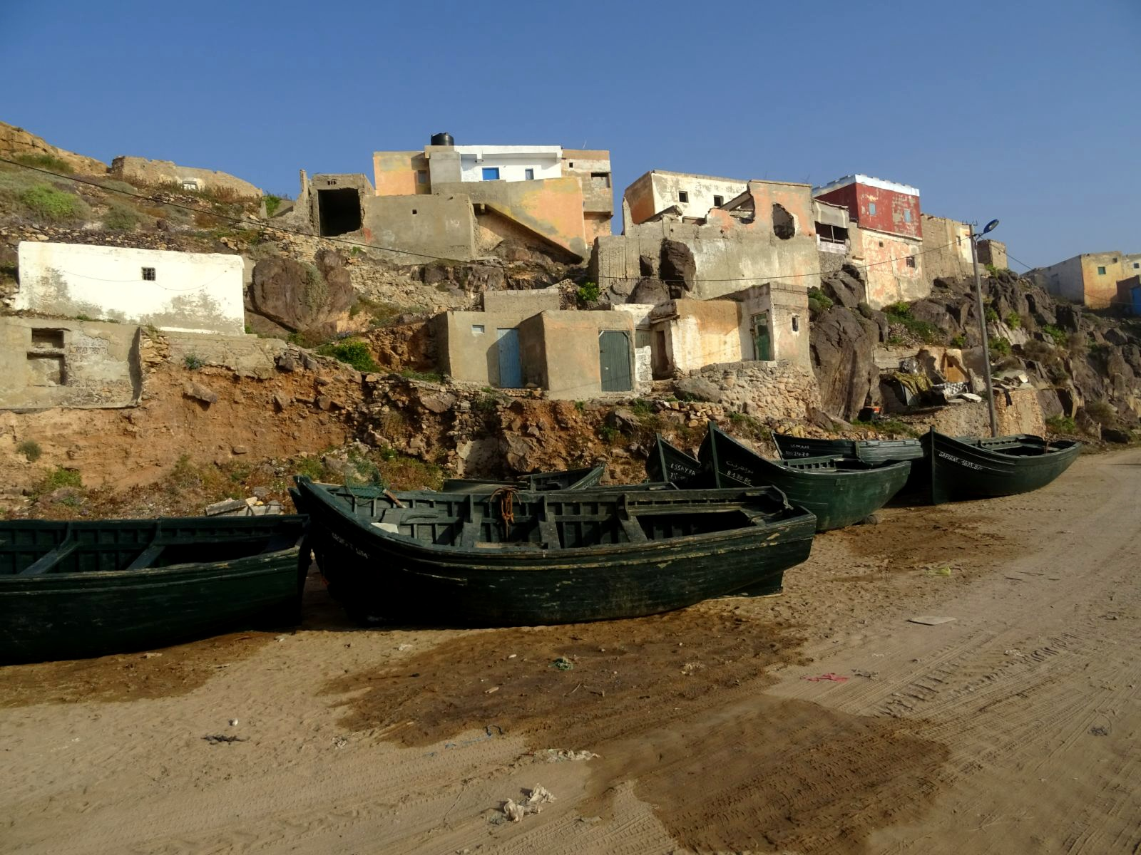 Le port et baraques de pecheurs