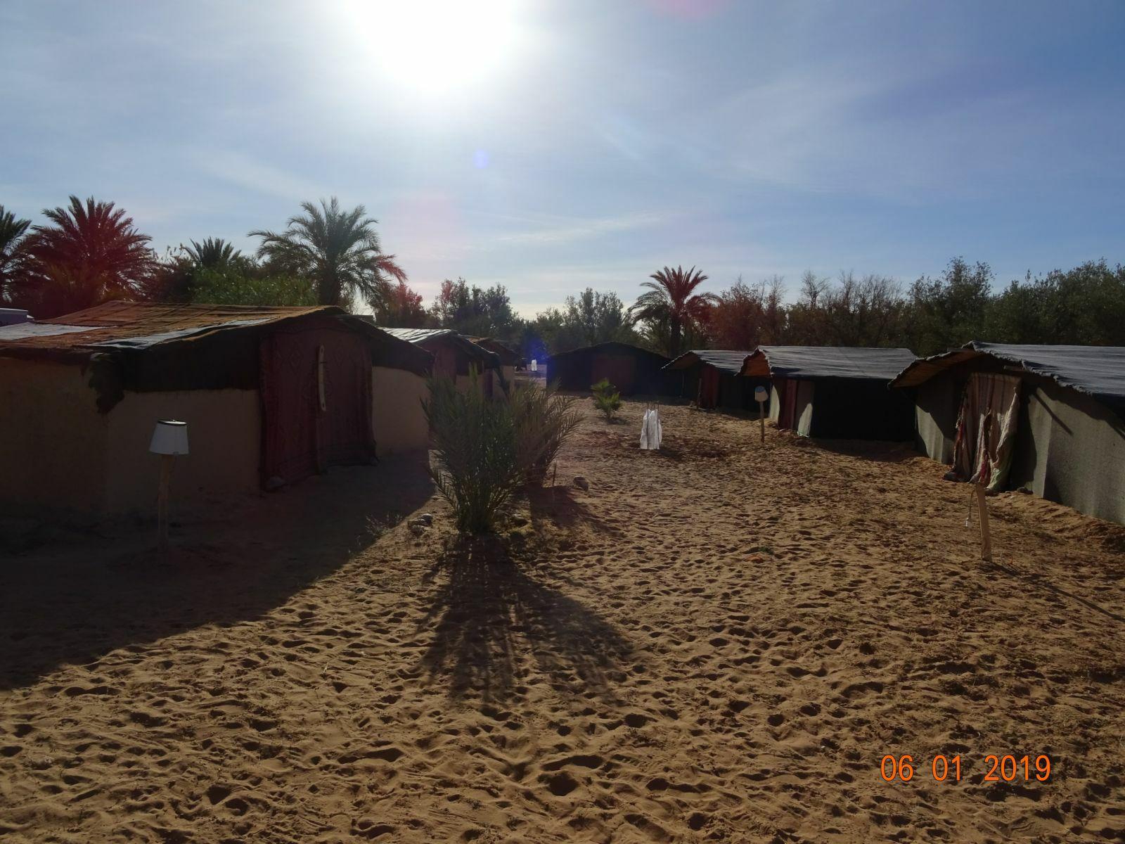 Les tentes berberes du camping