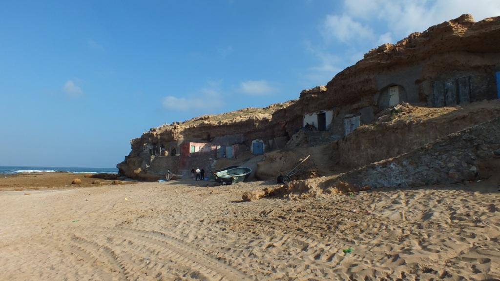 Maisons de pecheurs dans la roche