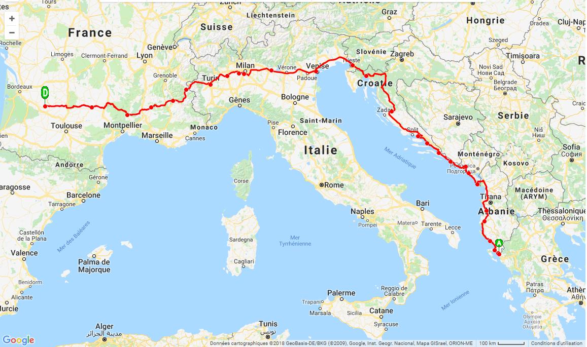 Trajet descente grece 2